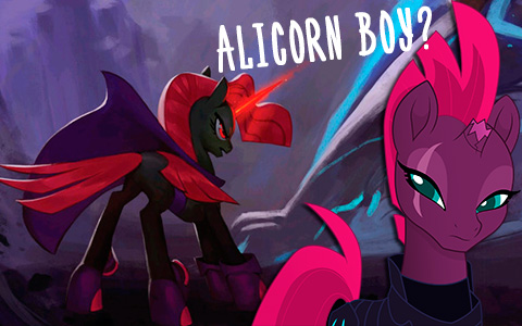 Concept VS original My little Pony the Movie. Tempest was Cosmos - an alicorn boy!