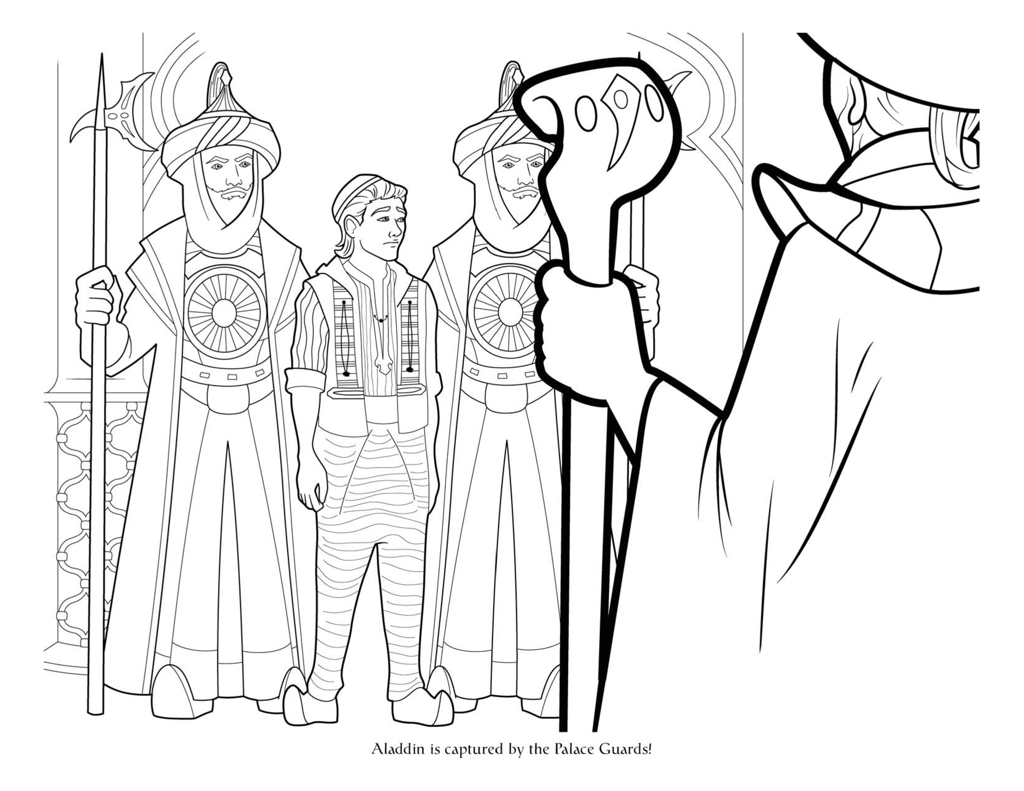 Aladdin Movie 2019 Big Coloring Pages Youloveit Com