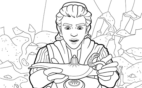 Aladdin movie 2019 big coloring pages