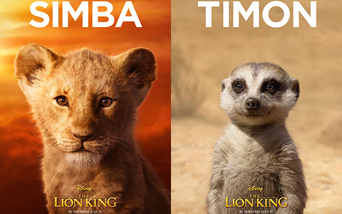 The Lion King film 2019 new character posters