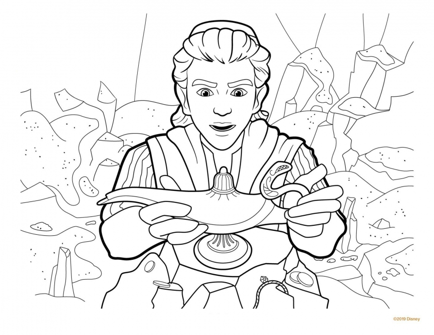 Aladdin movie 2019 big coloring pages - YouLoveIt.com