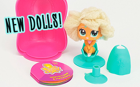 New cute collectible HairDooz dolls are sweet mix between LOL and Hairdorables