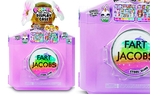 Poopsie Fart Jacobs Display Case with 12+ slimes and exclusive Cutie Tootie poopsie toy