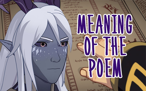 Time to open Aaravos poem from The Dragon Prince and seek some facts and meaning of the poem