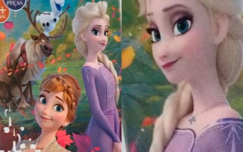 New images of Elsa and Anna from Disney Frozen II movie from different merchandise pictures