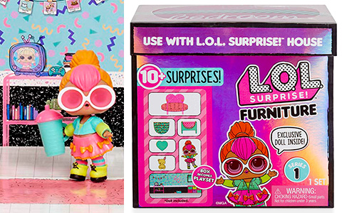 New LOL Surprise furniture set - Surprise Spaces Pack with Bedroom and Neon Q.T