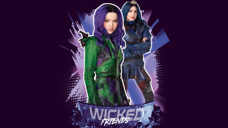 Disney Descendants 3 Mal and Evie wallpaper