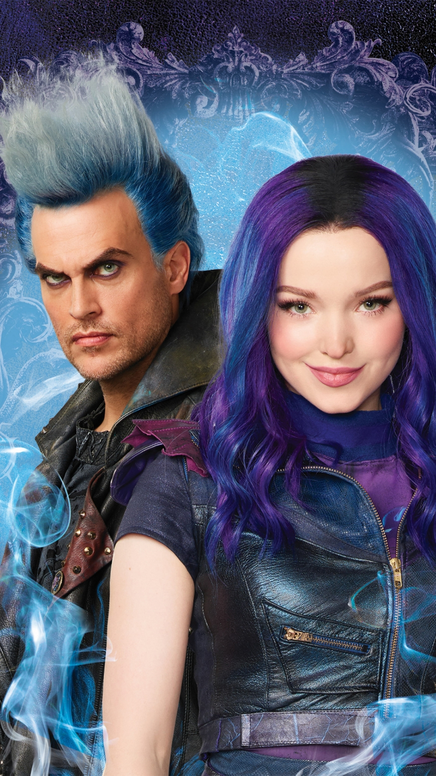 Disney Descendants 3 Mal and Hades phone wallpaper