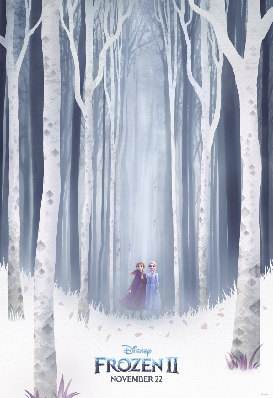 Frozen 2 new poster with white forest