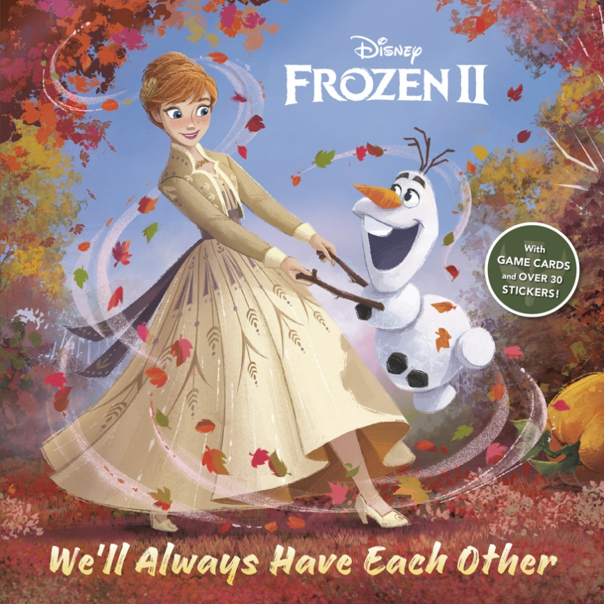 Frozen 2 We'll Always Have Each Other book with collector cards and stickers