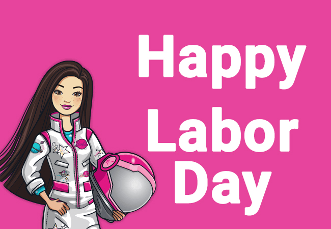 Happy Labor Day images with Barbie