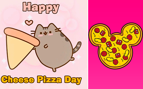 Happy cheese pizza day images