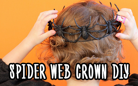 Halloween ideas 2019: DIY Spider Crown