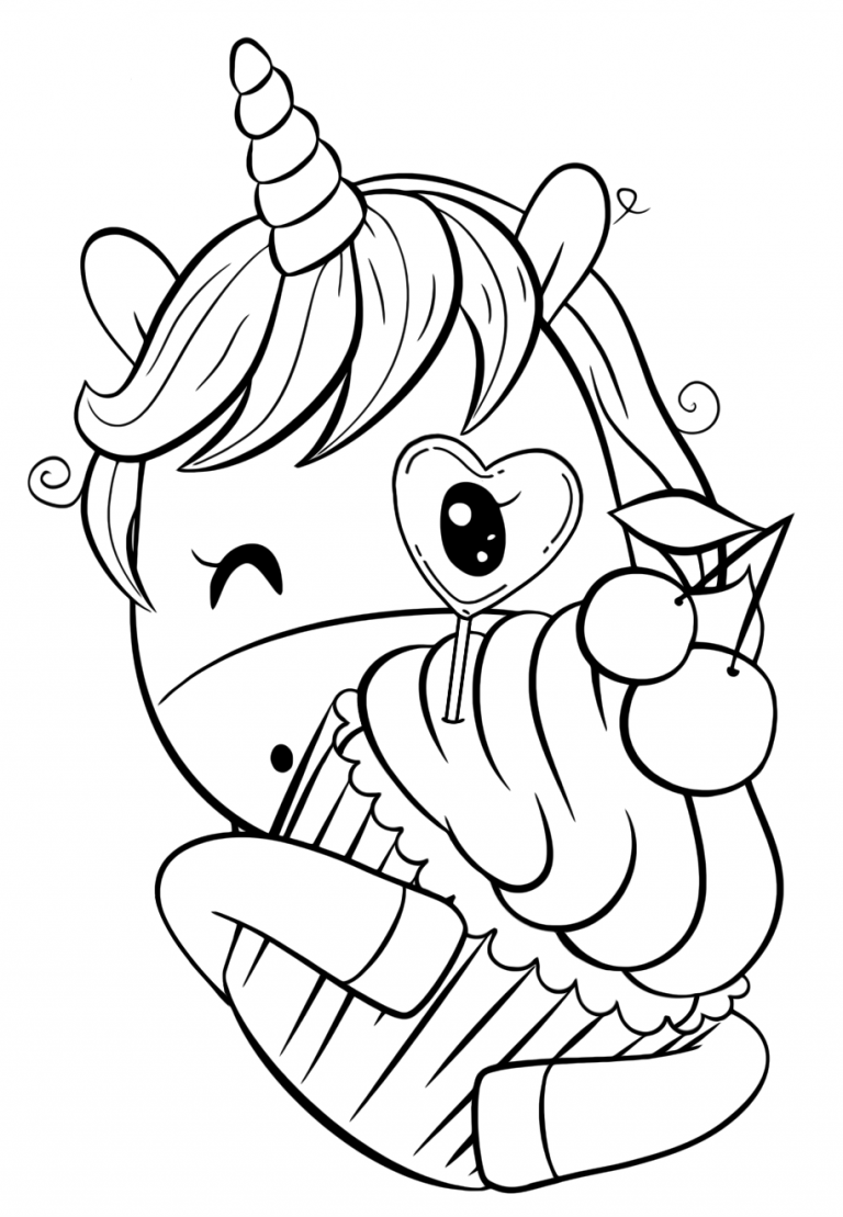 Cute Unicorn Coloring Pages Youloveit Com