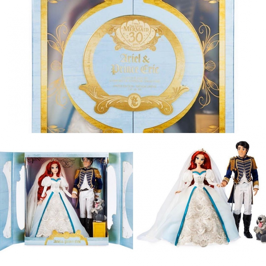 30TH Anniversary Little Mermaid Platinum Wedding set