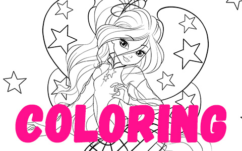 Winx Club season 8 coloring pages with Cosmix transformation