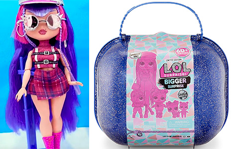 LOL Surprise Bigger Surprise Winter Disco with Exclusive LOL OMG Doll is Amazon exclusive and include LOL Midnight