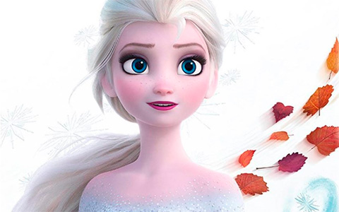 Frozen 2 new character posters with fall leaves from Japan