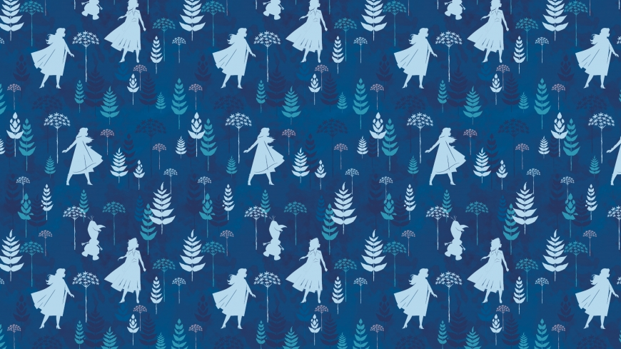 Frozen 2 pattern wallpaper