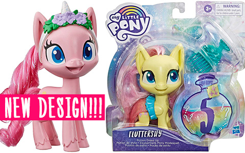 New Brushable My Little Pony toys with new design - Potion Dress Up. Is it G5 or 2020 CGI movie design?