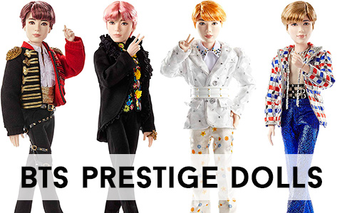 Mattel releases new collector BTS Prestige dolls