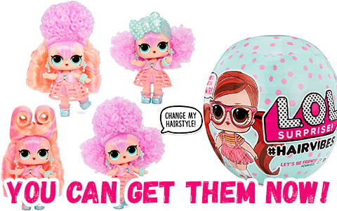 New L.O.L. Surprise! #Hairvibes Dolls with 15 Surprises and changeable Hairpieces are out!