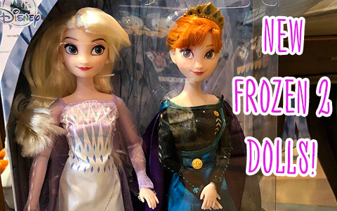New Disney Store Frozen 2 dolls with Elsa as Snow Queen and Anna as Arendelle Queen from movie final