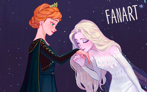 Elsa fifth Element And Anna queen of Arendelle fanart based on the Frozen 2 final outfits
