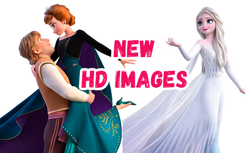 New HD images of  Frozen 2 Anna Queen of Arendelle (with Kristoff!) and Elsa as Snow Queen