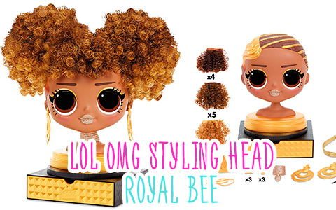 Stock images of LOL Surprise OMG Styling Head Royal Bee. She is out!