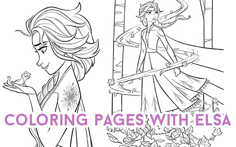 New Frozen 2 coloring pages with Elsa