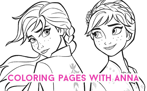 New Frozen 2 coloring pages with Anna