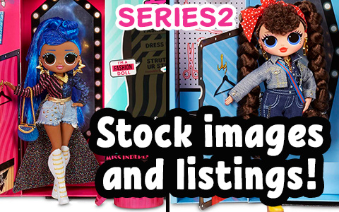 LOL OMG Series 2 fashion dolls stock HD images - Busy B.B., Candylicious, Miss Independent, Alt Grrrl. They are finally listed online, you can get them now
