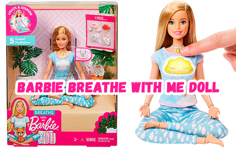 Barbie Breathe with Me 2020 doll best for self-care