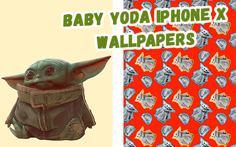 Baby Yoda iphone X wallpaper collection
