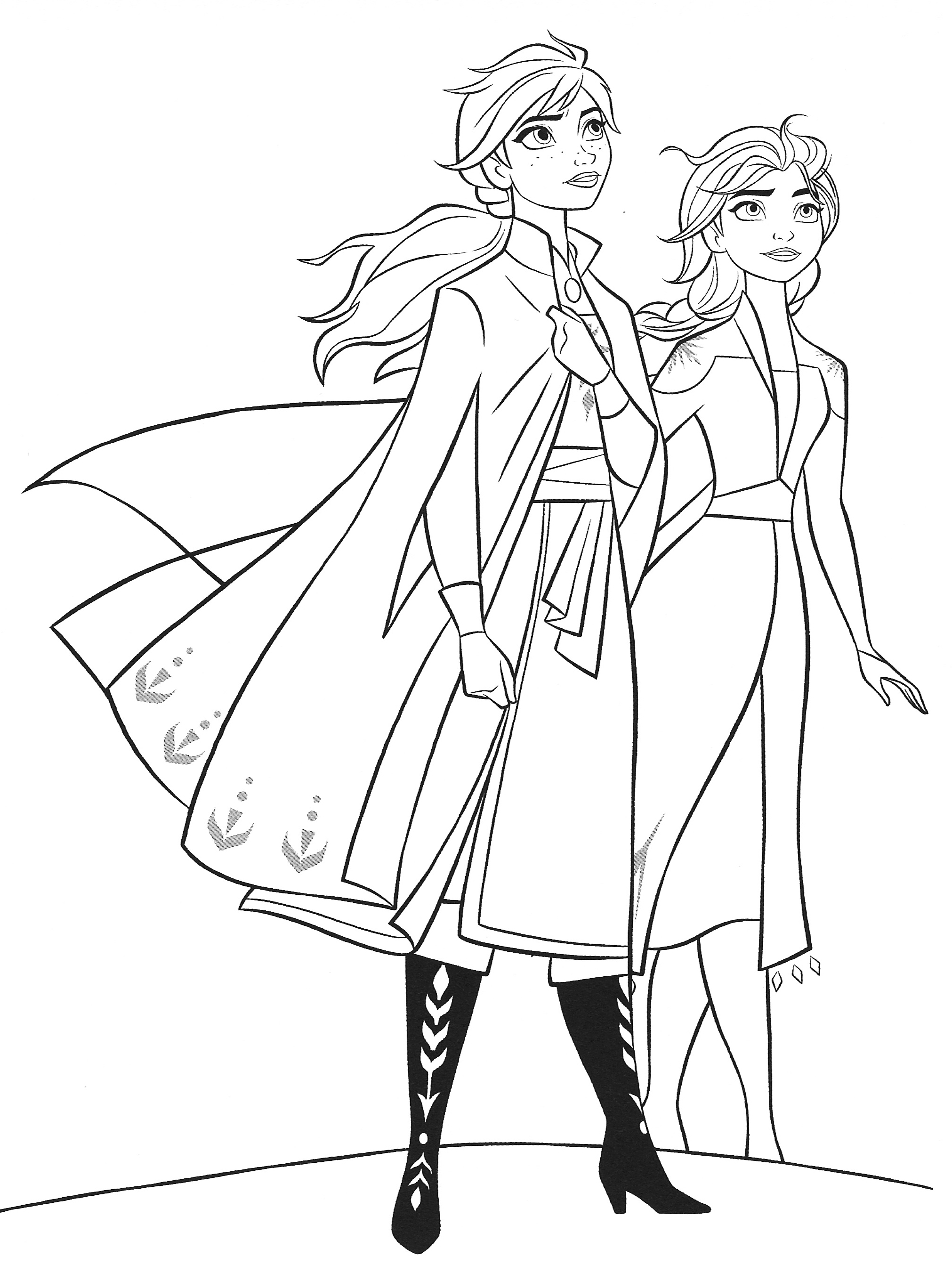 Frozen 18 Elsa and Anna coloring pages   YouLoveIt.com