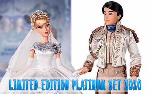 First images of the Upcoming Disney Limited Edition dolls 2020 Cinderella and Prince Charming Platinum wedding set