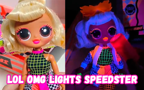 New live photos of LOL OMG Lights Speedster doll with revealed neon light surprises