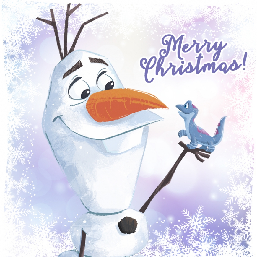 Christmas card Olaf and Bruni Frozen 2