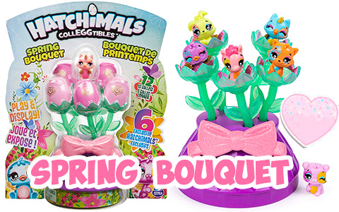 Hatchimals CollEGGtibles Spring Bouquet with 6 exclusive hatchimals.  Celebrate Spring with Hatchimals