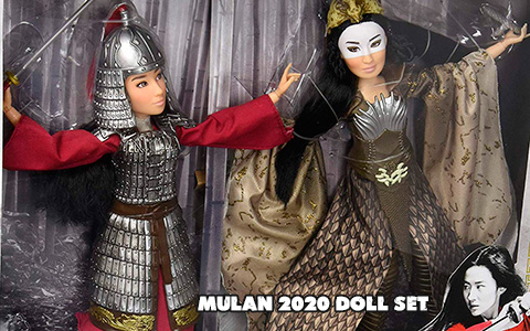 First images: Disney Mulan live action movie 2020 doll set Mulan & Xianniang from Hasbro