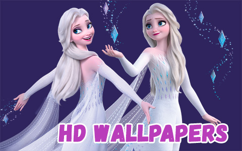 15 new Frozen 2 HD wallpapers with Elsa in white dress and her hair down - desktop and mobile