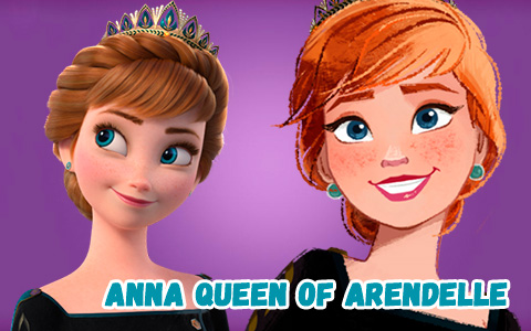Frozen 2 Anna queen of Arendelle new big official images