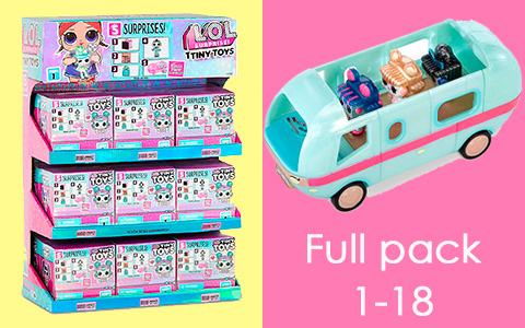 Amazon is selling LOL Surprise Tiny Toys full set 1 - 18 Pack to Build a Tiny Glamper for $84.99