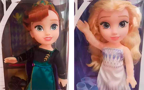 New Jakks Pacific Frozen 2 dolls Elsa Snow Queen and Anna Queen of Arendelle are cuter than first ones