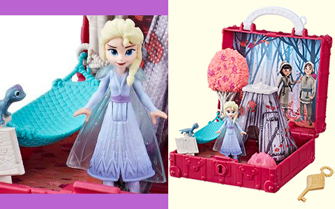Frozen 2 Pop Adventures Enchanted Forest Playset with Elsa, Bruni and Honeymaren art in the background