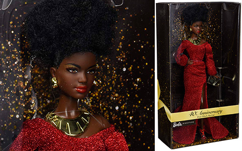 Barbie 40th Anniversary First Black Barbie doll. First images of the new 2020 collector doll