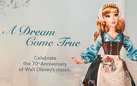 Disney Cinderella's 70th anniversary Limited Edition doll release date