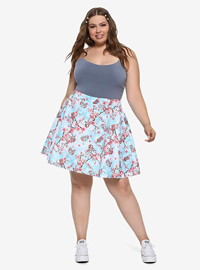 Spring skirt hot topic mulan plus size