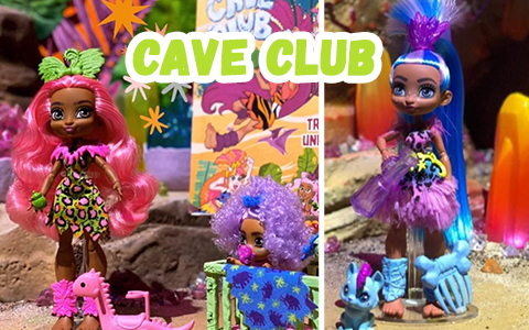 Cave Club - new doll line from Mattel in Prehistorik style